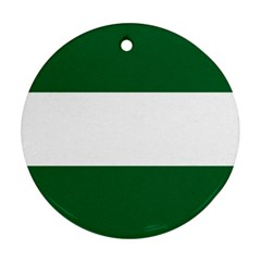 Flag Of Andalusia Round Ornament (two Sides)