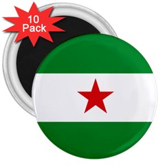 Flag Of Andalusian Nation Party 3  Magnets (10 Pack)  by abbeyz71