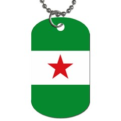 Flag Of Andalusian Nation Party Dog Tag (two Sides)