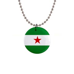 Flag Of Andalusian Nation Party 1  Button Necklace by abbeyz71