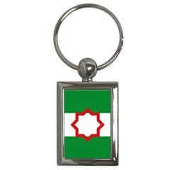 Nationalist Andalusian Flag Key Chains (rectangle)  by abbeyz71