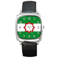 Nationalist Andalusian Flag Square Metal Watch by abbeyz71