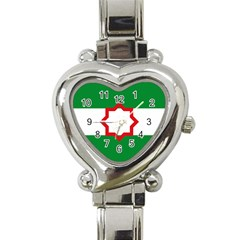 Nationalist Andalusian Flag Heart Italian Charm Watch by abbeyz71