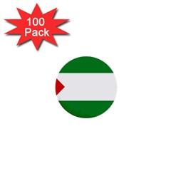 Flag Of Andalucista Youth Wing Of Andalusian Party 1  Mini Buttons (100 Pack)