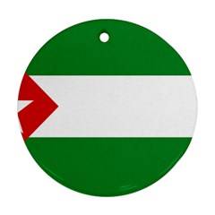 Flag Of Andalucista Youth Wing Of Andalusian Party Round Ornament (two Sides) by abbeyz71