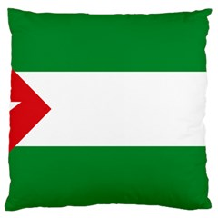 Flag Of Andalucista Youth Wing Of Andalusian Party Large Cushion Case (one Side)