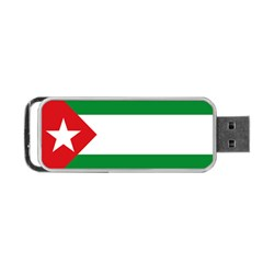 Flag Of Andalucista Youth Wing Of Andalusian Party Portable Usb Flash (two Sides)