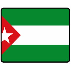 Flag Of Andalucista Youth Wing Of Andalusian Party Double Sided Fleece Blanket (medium)  by abbeyz71