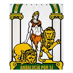 Emblem Of Andalusia Shower Curtain 60  X 72  (medium)  by abbeyz71