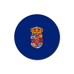 Flag Of Murcia, 1976 1982 Rubber Coaster (round)
