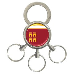 Stylized Coat Of Arms Of Murcia 3 Ring Key Chains by abbeyz71