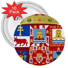 Coat Of Arms Of The Former Province Of Murcia 3  Buttons (10 Pack)  by abbeyz71