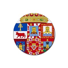 Coat Of Arms Of The Former Province Of Murcia Rubber Round Coaster (4 Pack)  by abbeyz71