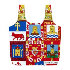 Coat Of Arms Of The Former Province Of Murcia Full Print Recycle Bag (l)