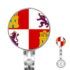 Flag Of Castile & León Stainless Steel Nurses Watch by abbeyz71