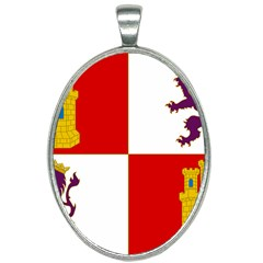 Flag Of Castile & León Oval Necklace by abbeyz71