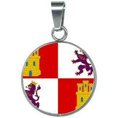 Flag Of Castile & Le¨?n 20mm Round Necklace by abbeyz71