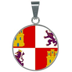 Flag Of Castile & Le¨?n 25mm Round Necklace by abbeyz71