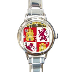 Coat Of Arms Of Castile And Le¨?n Round Italian Charm Watch by abbeyz71