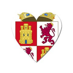 Coat Of Arms Of Castile And León Heart Magnet by abbeyz71