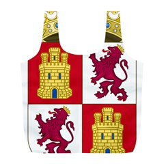 Coat Of Arms Of Castile And León Full Print Recycle Bag (l) by abbeyz71