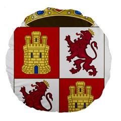 Coat Of Arms Of Castile And León Large 18  Premium Flano Round Cushions by abbeyz71