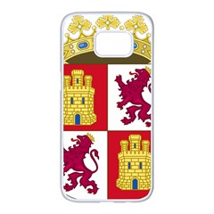 Coat Of Arms Of Castile And León Samsung Galaxy S7 Edge White Seamless Case by abbeyz71
