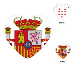 Coat Of Arms Of Spain Playing Cards (heart) by abbeyz71