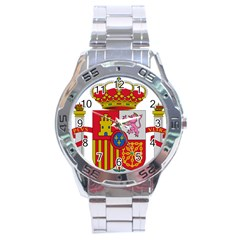 Coat Of Arms Of Spain Stainless Steel Analogue Watch by abbeyz71