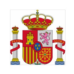 Coat Of Arms Of Spain Small Satin Scarf (square)