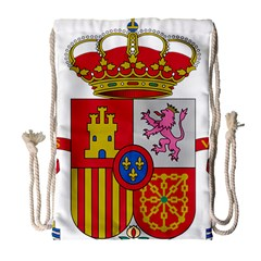 Coat Of Arms Of Spain Drawstring Bag (large) by abbeyz71