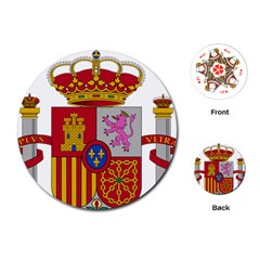 Coat Of Arms Of Spain Playing Cards (round) by abbeyz71