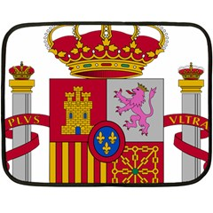 Coat Of Arms Of Spain Double Sided Fleece Blanket (mini)  by abbeyz71
