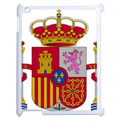Coat Of Arms Of Spain Apple Ipad 2 Case (white) by abbeyz71