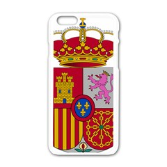 Coat Of Arms Of Spain Apple Iphone 6/6s White Enamel Case by abbeyz71