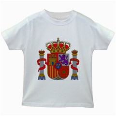 Coat Of Arms Of Spain Kids White T-shirts by abbeyz71