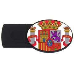 Coat Of Arms Of Spain Usb Flash Drive Oval (2 Gb)