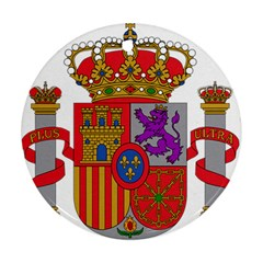 Coat Of Arms Of Spain Round Ornament (two Sides)