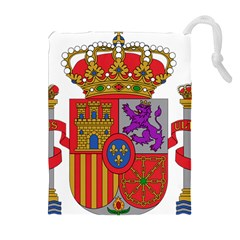 Coat Of Arms Of Spain Drawstring Pouch (xl) by abbeyz71