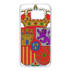 Coat Of Arms Of Spain Samsung Galaxy S7 White Seamless Case by abbeyz71