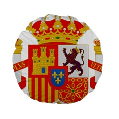 Coat Of Arms Of Spain Standard 15  Premium Round Cushions by abbeyz71
