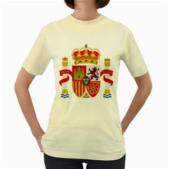 Coat Of Arms Of Spain Women s Yellow T Shirt