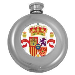 Coat Of Arms Of Spain Round Hip Flask (5 Oz) by abbeyz71