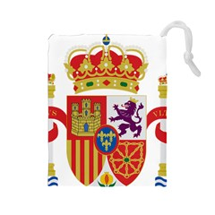 Coat Of Arms Of Spain Drawstring Pouch (large) by abbeyz71