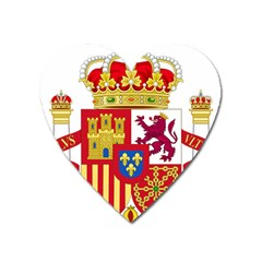 Coat Of Arms Of Spain Heart Magnet by abbeyz71