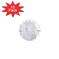 Coat Of Arms Of Spain 1  Mini Magnet (10 Pack)