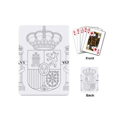 Coat Of Arms Of Spain Playing Cards (mini) by abbeyz71