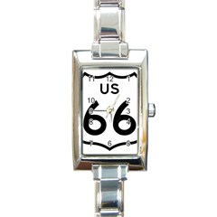 Route 66 Rectangle Italian Charm Watch by abbeyz71