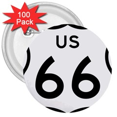 Route 66 3  Buttons (100 Pack)  by abbeyz71