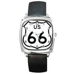 Route 66 Square Metal Watch by abbeyz71